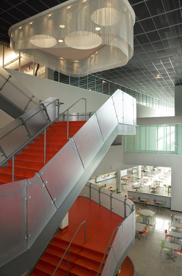 UNLV Student Union Second Level Staircase