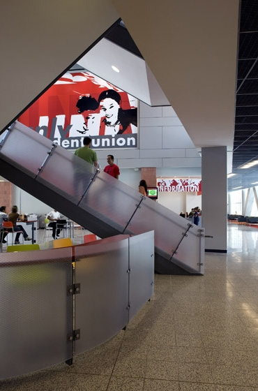 UNLV Student Union First Level Staircase