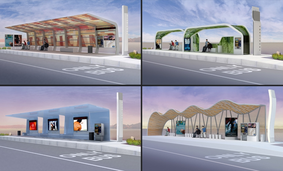 Ace Rapid Transit Shelter Design Renderings