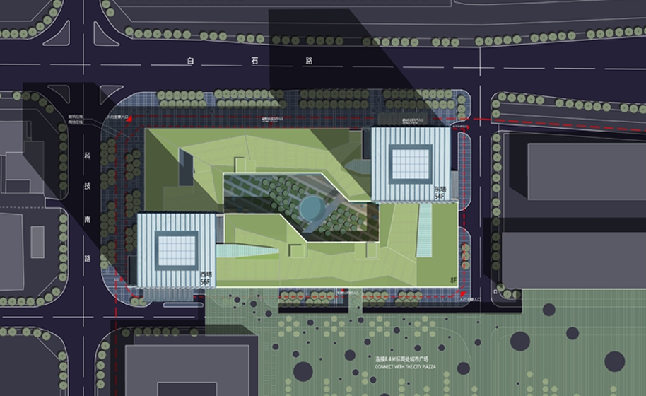 B-Tec Twin Towers Site Plan