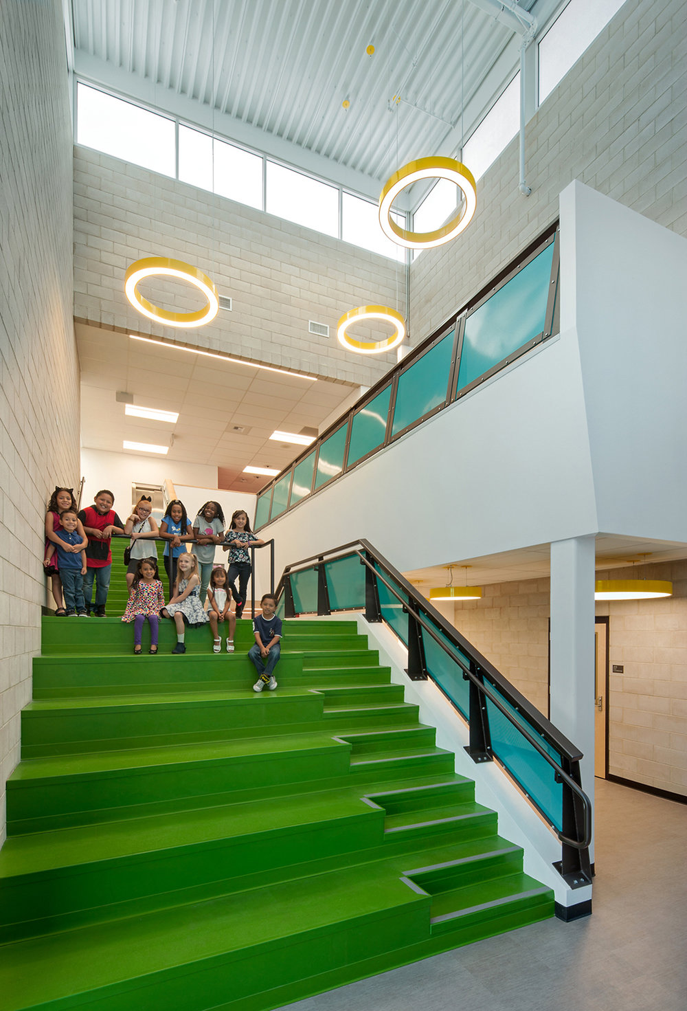 Lincoln Elementary School Staircase