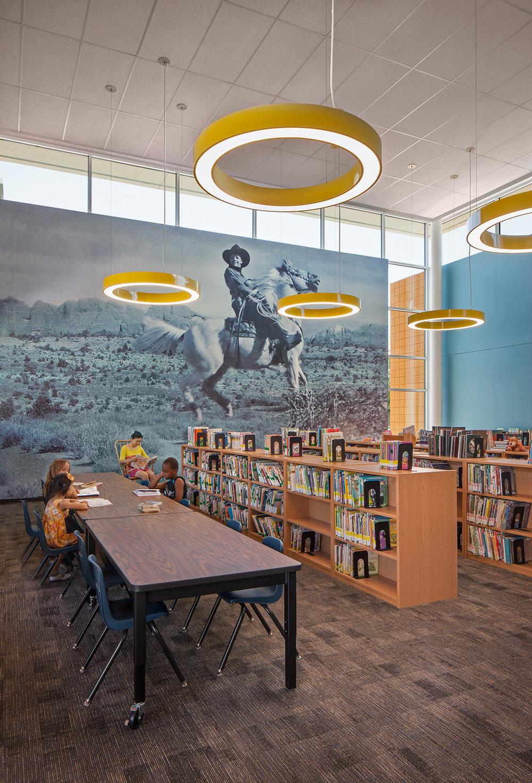 Rex Bell Elementary School Library
