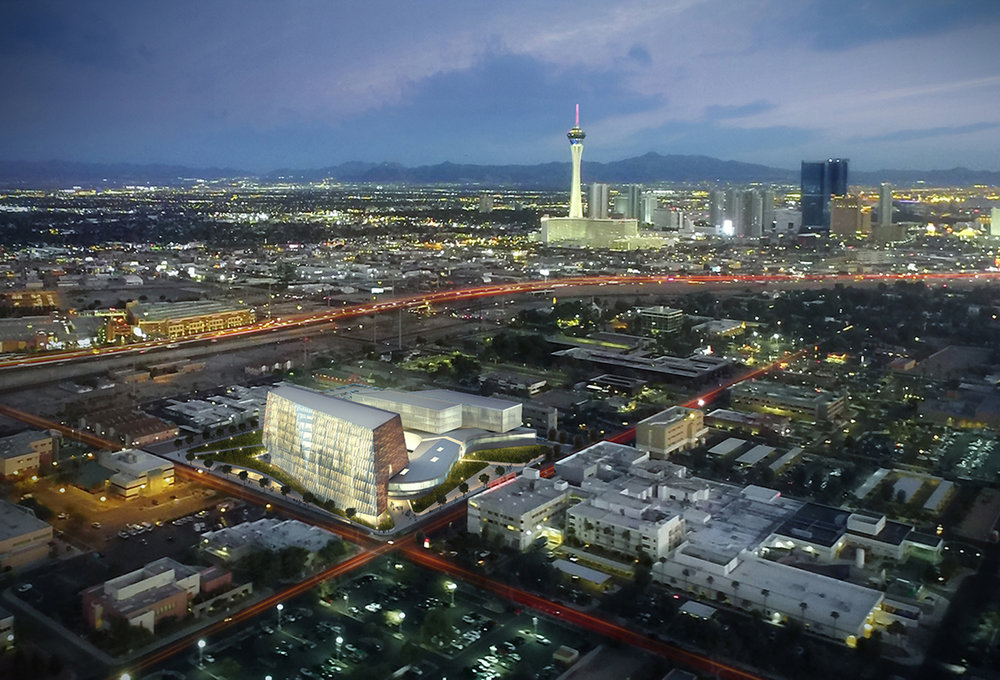 UNLV School of Medicine Aerial Rendering