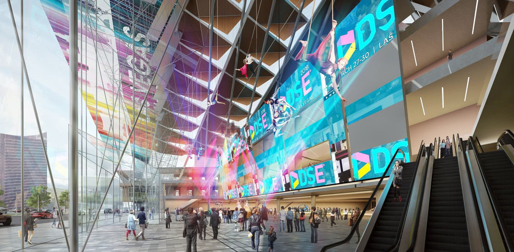A rendering of the convention center design by tvsdesign / Design Las Vegas