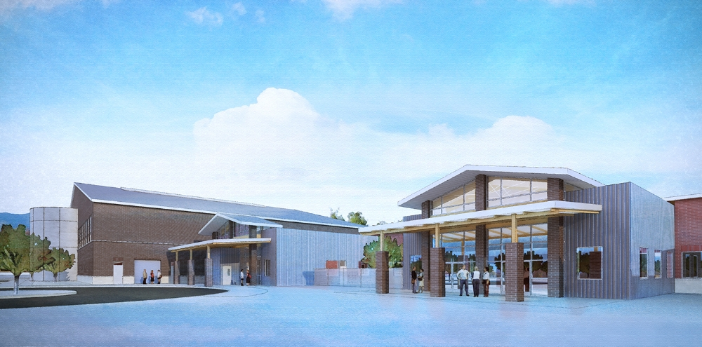 Douglas County Community Center Exterior Rendering