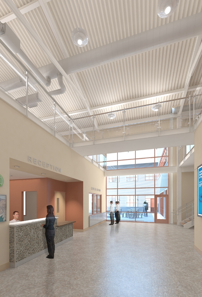 US Bureau of Reclamation Administration Building Interior Rendering