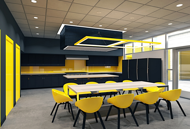 Clark County Fire Station 61 Interior Rendering