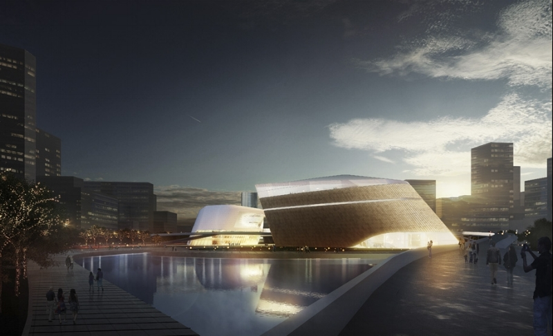 Yichang New District Cultural Center Rendering