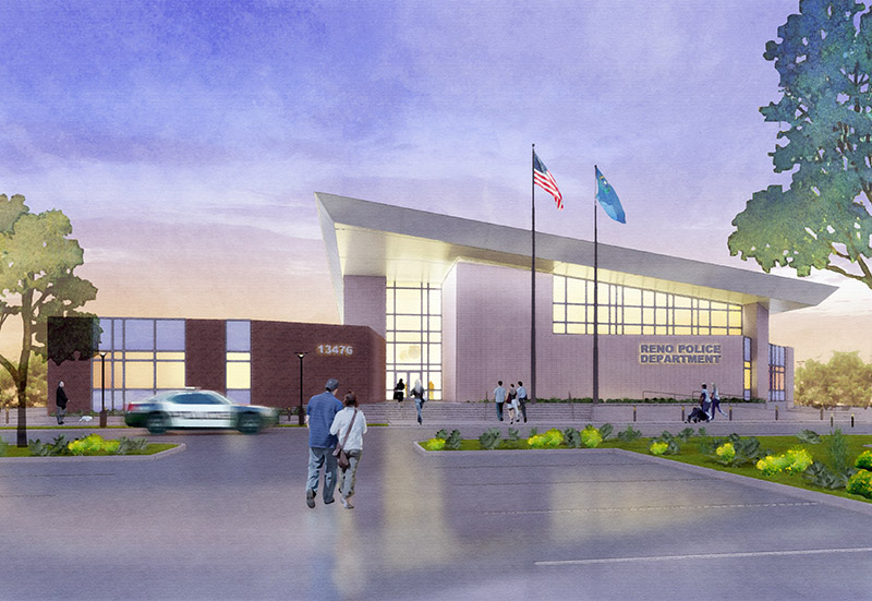 Reno Police Station Exterior Rendering
