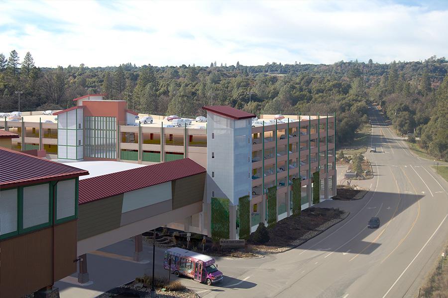Black Oak Casino Parking Garage Aerial