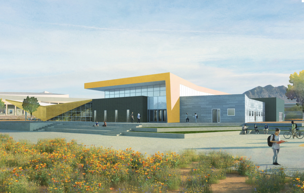 Rendering of one of the new student unions at the College of Southern Nevada