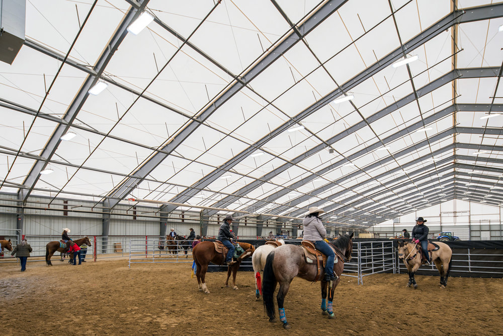 Winnemucca Equestrian Arena Interior / A Legacy Building Solutions Structure