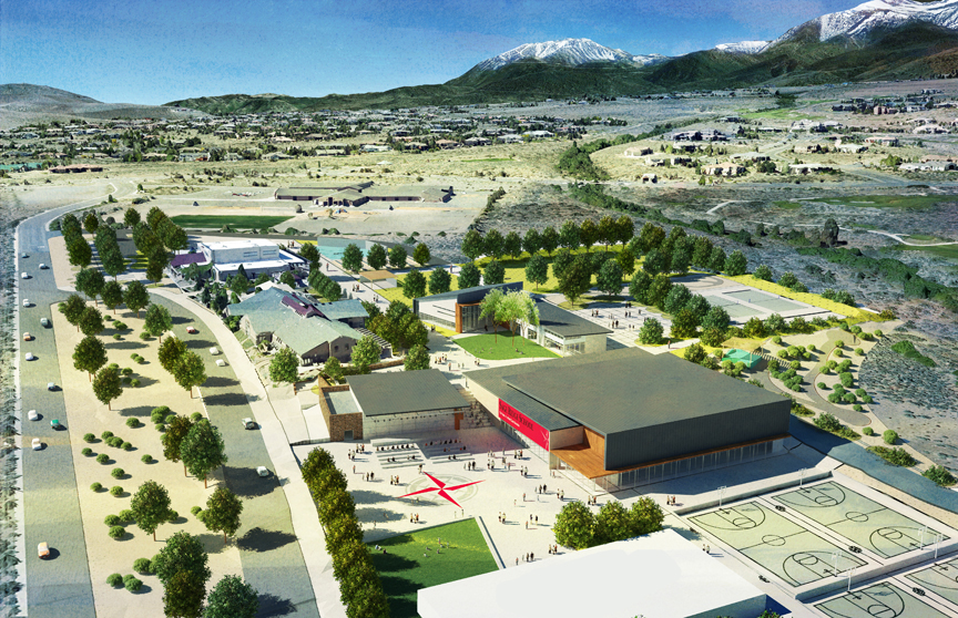 Sage Ridge School Aerial Rendering