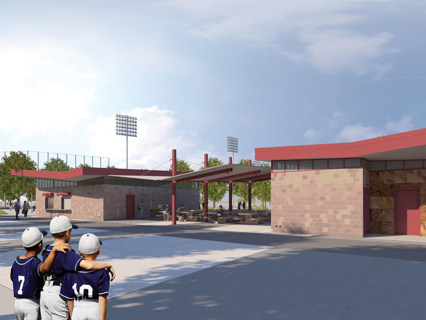 Desert Diamonds Baseball Fields Rendering