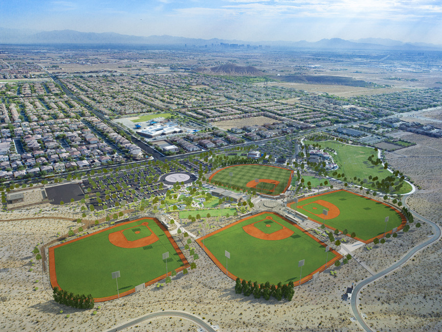 Desert Diamonds Baseball Fields Aerial Rendering