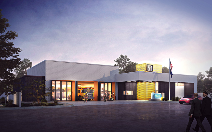Clark County Fire Station No. 61 Exterior Rendering