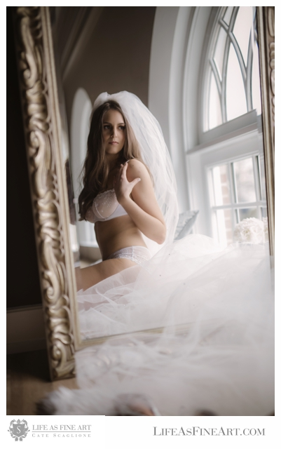 Lingerie  by  H&M Collection | Bridal Hair and Makeup by  Miranda Richards Artistry for Life As Fine Art