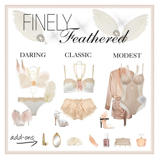 A TOUCH OF CHAMPAGNE | What better way for a blushing bride to look sinfully angelic than feathers?
