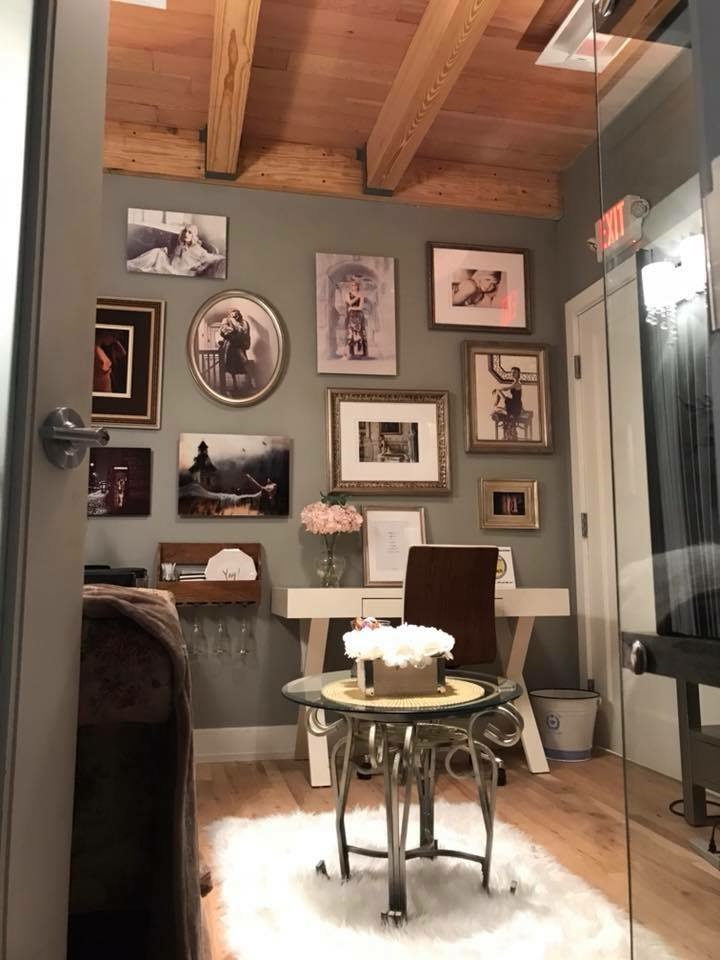 Beautifully redesigned Image viewing room at the Life As Fine Art Red Bank studio.