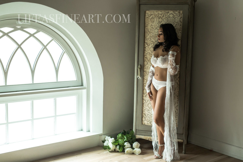 Bridal Boudoir as a First Wedding Anniversary Gift by Cate Scaglione, Life As Fine Art | www.LIFEASFINEART.com