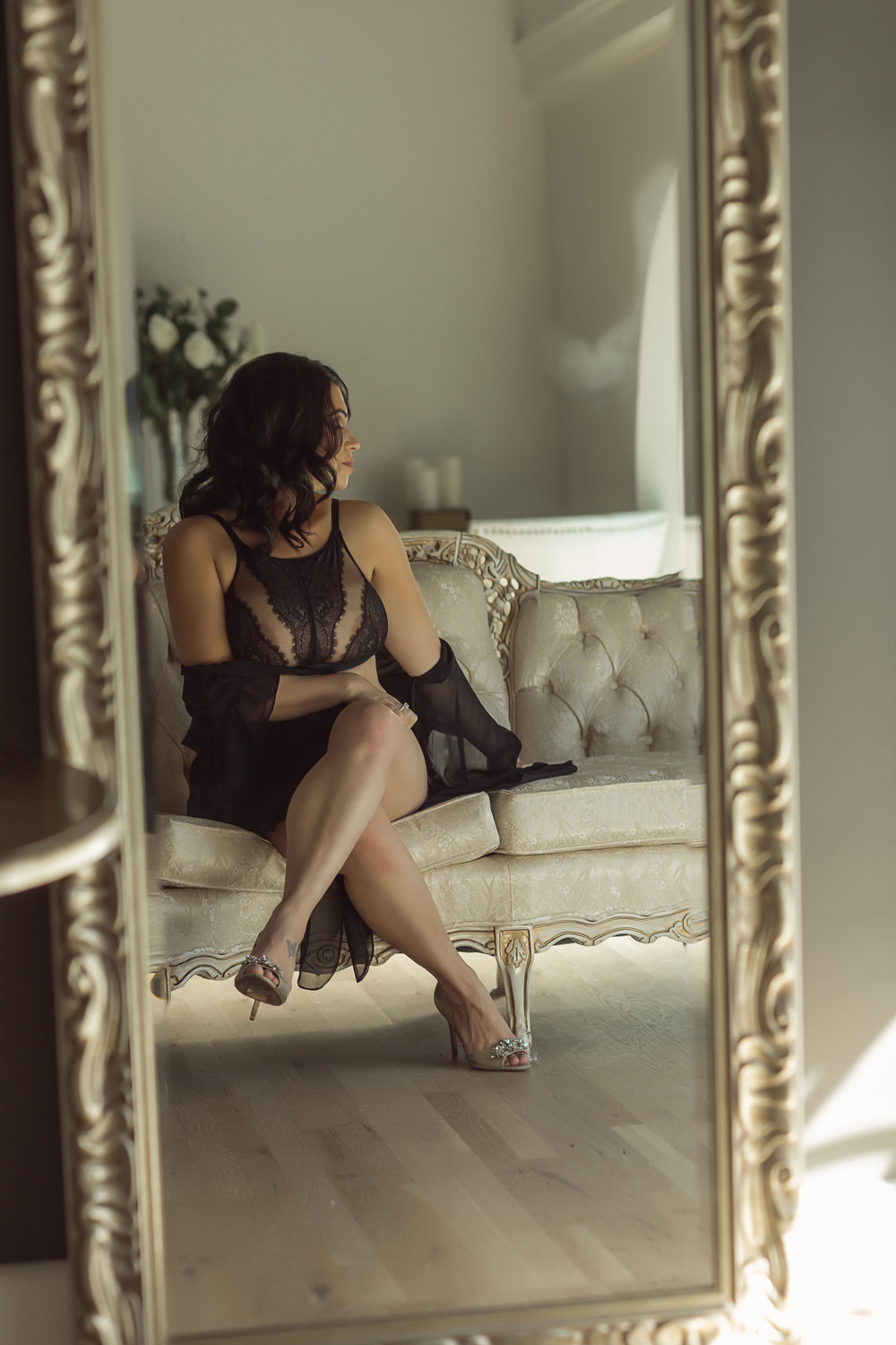 Raven haired goddess-Mama.  Photo by  CATE SCAGLIONE , Life As Fine Art,  New Jersey Boudoir Photographer | Photography Studio + Spa