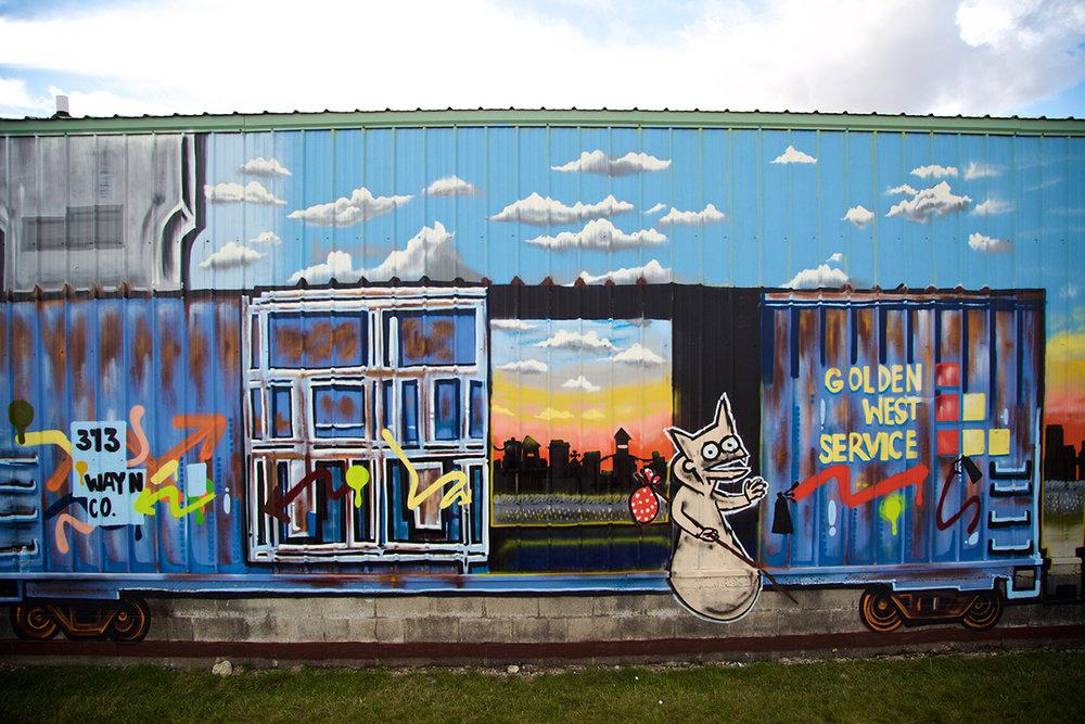 2016 Mural by Freddy Diaz in Eastern Market, Detroit