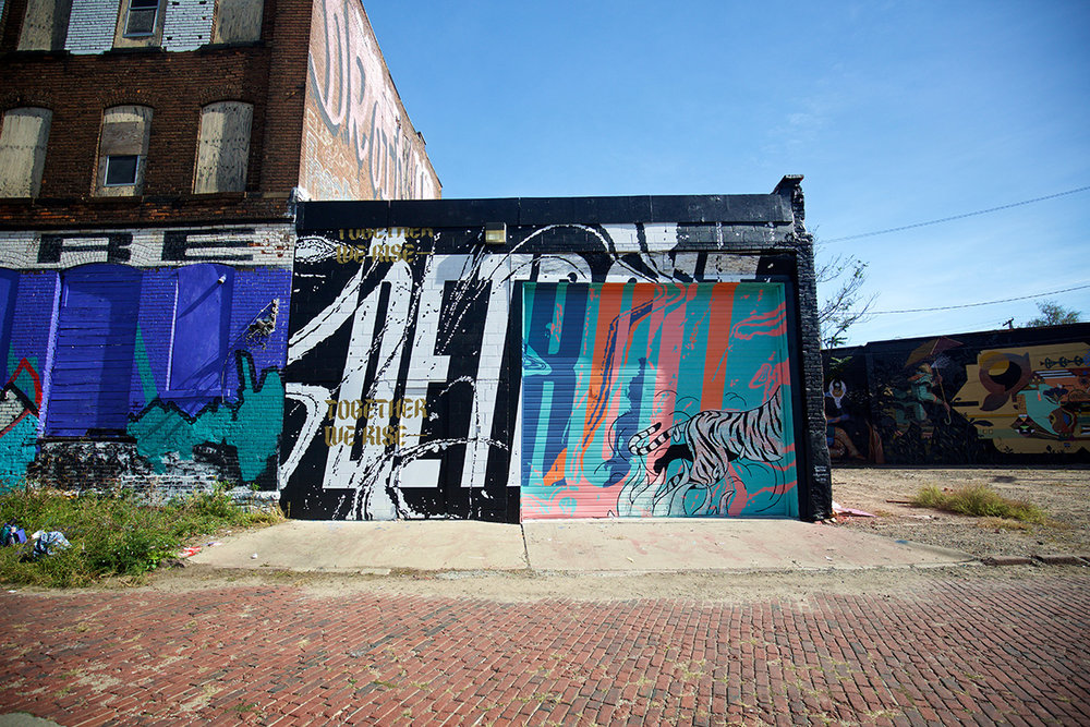 2016 Mural by Jeremiah Britton in Eastern Market, Detroit