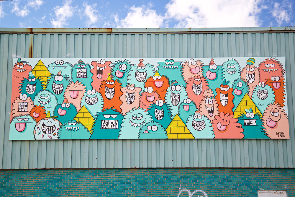 2016 Mural by Kevin Lyons in Eastern Market, Detroit