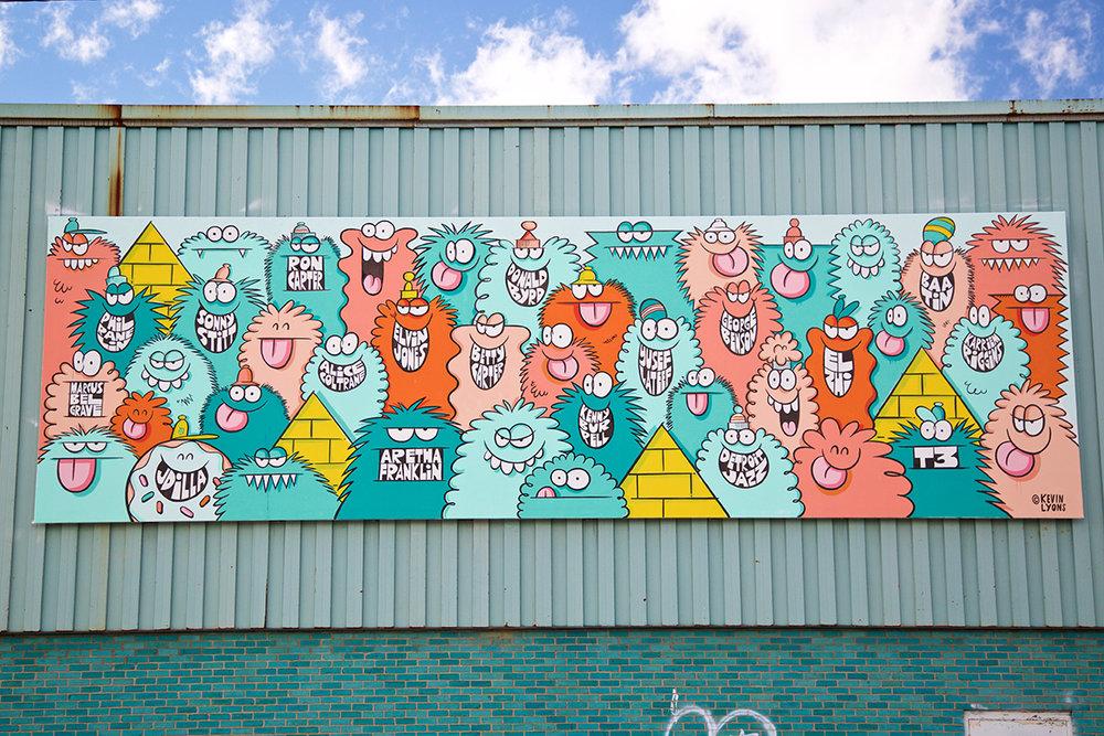 2016 Mural by Kevin Lyons in Eastern Market, Detroit