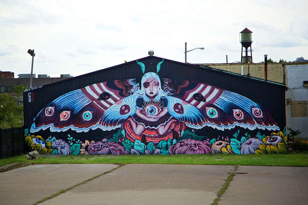 2016 Mural by Lauren YS in Eastern Market, Detroit