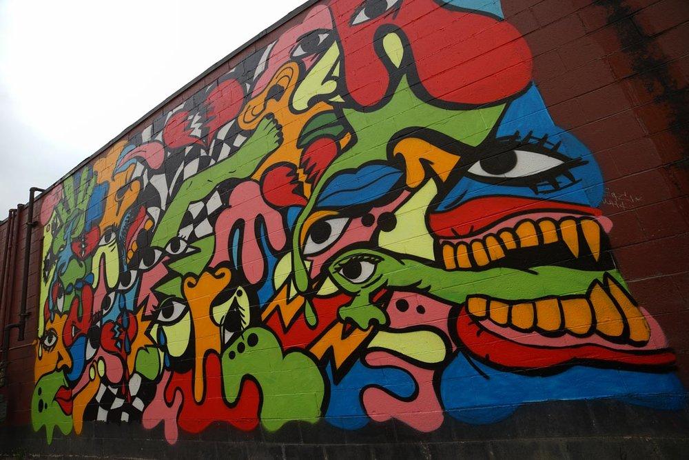 2016 Mural by Sheefy in Eastern Market, Detroit