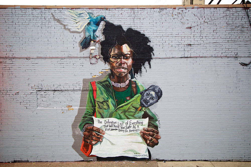 2016 Mural by Sydney G. James   in Eastern Market, Detroit