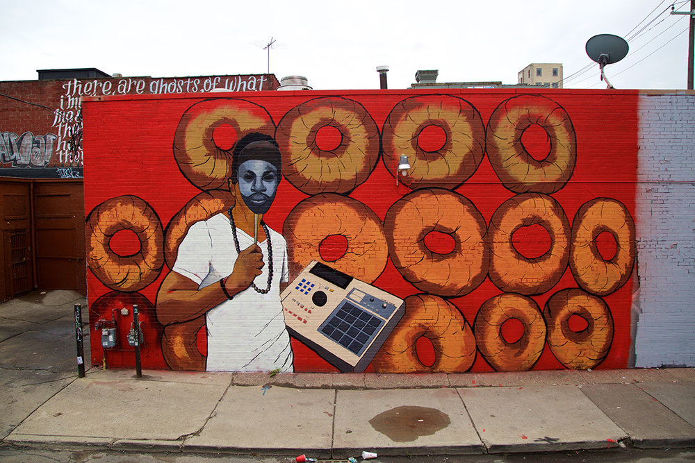 2016 Mural by Tylonn Sawyerin Eastern Market, Detroit