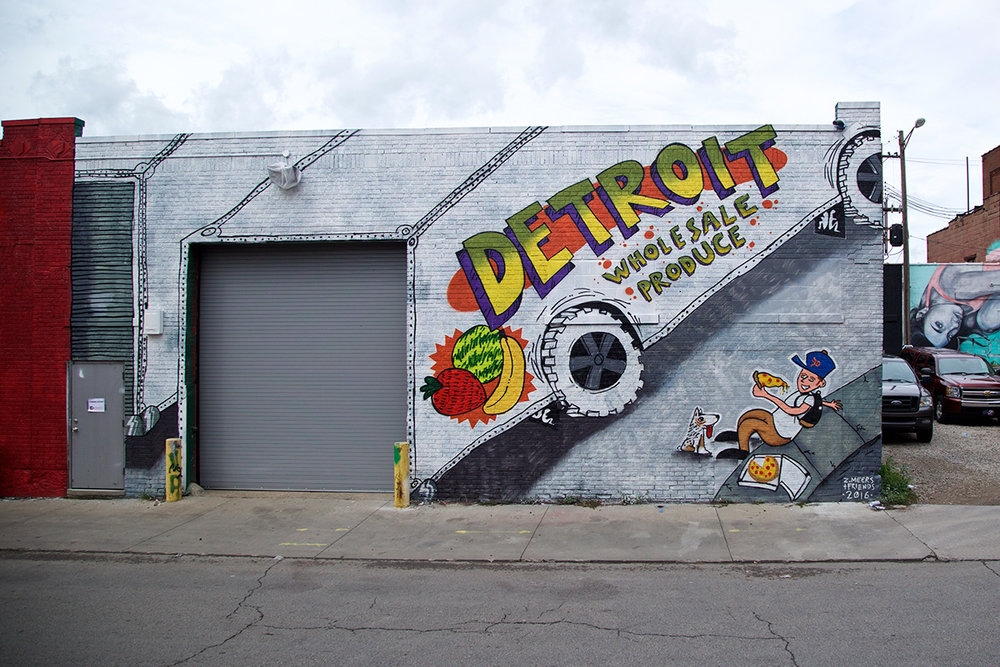 2016 Mural by Zak Meers in Eastern Market, Detroit