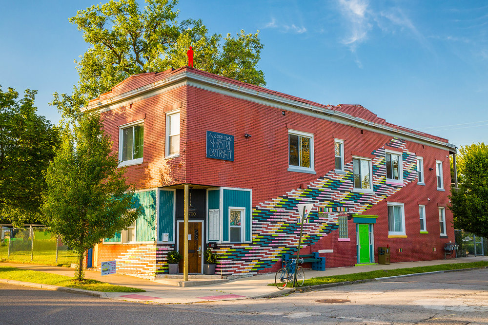 Hostel Detroit   North Corktown   Providing clean and affordable lodging in Corktown just minutes away from the hub of MITM activities, the city's only hostel is also surrounded by some of the best bars and restaurants.     2700 Vermont 313.451.0333   Website