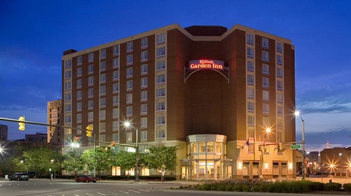 Hilton Garden Inn  Downtown      The Hilton Garden Inn is centrally located downtown in the heart of Harmonie Park and the stadium districts. Steps away from Comerica Park, Greektown, Campus Martius and more.    351 Gratiot Avenue 313.967.0900   Website