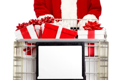 santa shopping cart