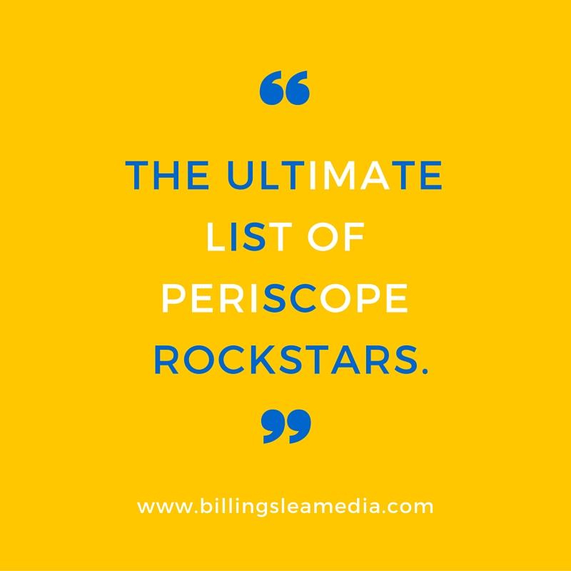 periscope rockstars