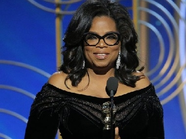 Oprah Winfrey at the 2018 Golden Globes. Photo courtesy of Google Images