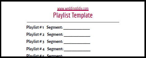 dj your own wedding playlist template 1
