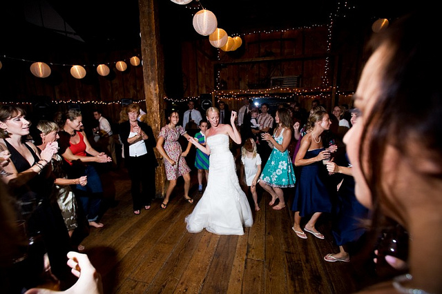 a dj booth can take up valuable real estate in an intimate wedding venue free up more space for dancing and partying by doing your own music