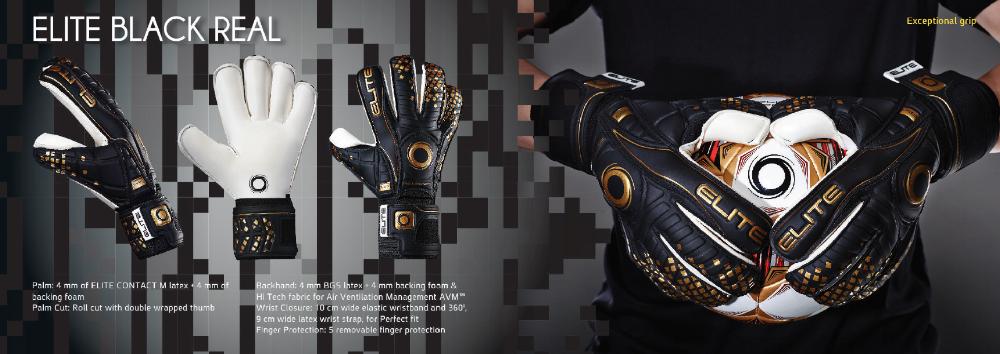 Goalkeeper Gloves Elite Black Real_www.worldsocceruniverse.com