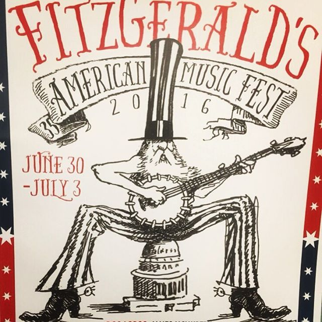 Tomorrow @ 10pm! Catch us singing our sadness away at @fitzgeraldsbar for their American music fest. Plus lots of other awesome bands!