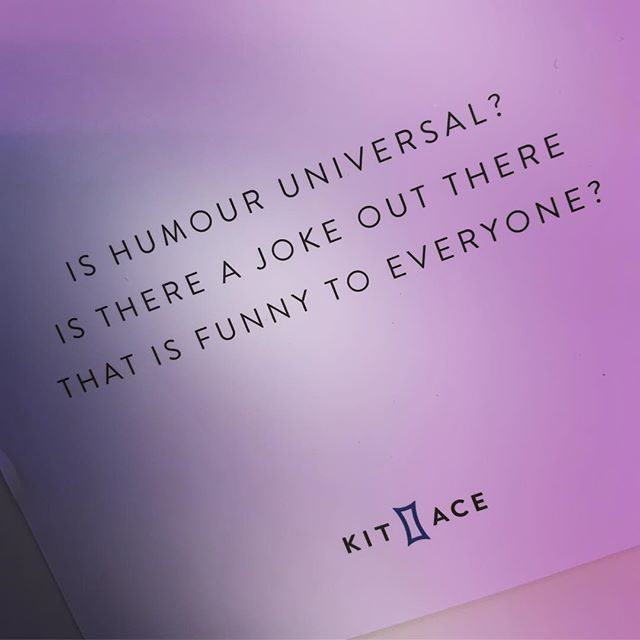 Question of the day: Let's hear your best joke that could be universally funny #questionoftheday #universalhumour
