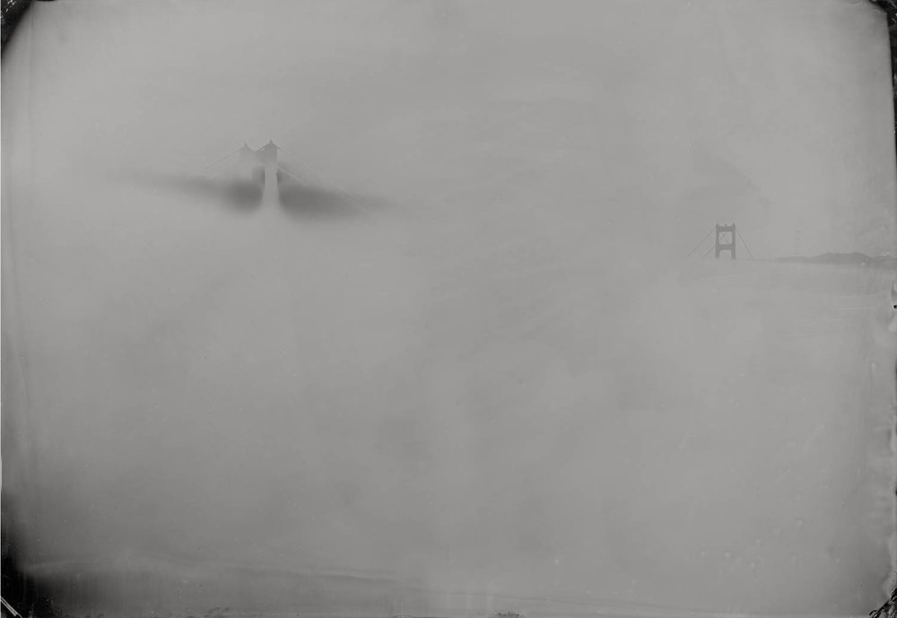 Solarized (Golden Gate Bridge in fog) - By: Christopher Erin  www.christophererin.com