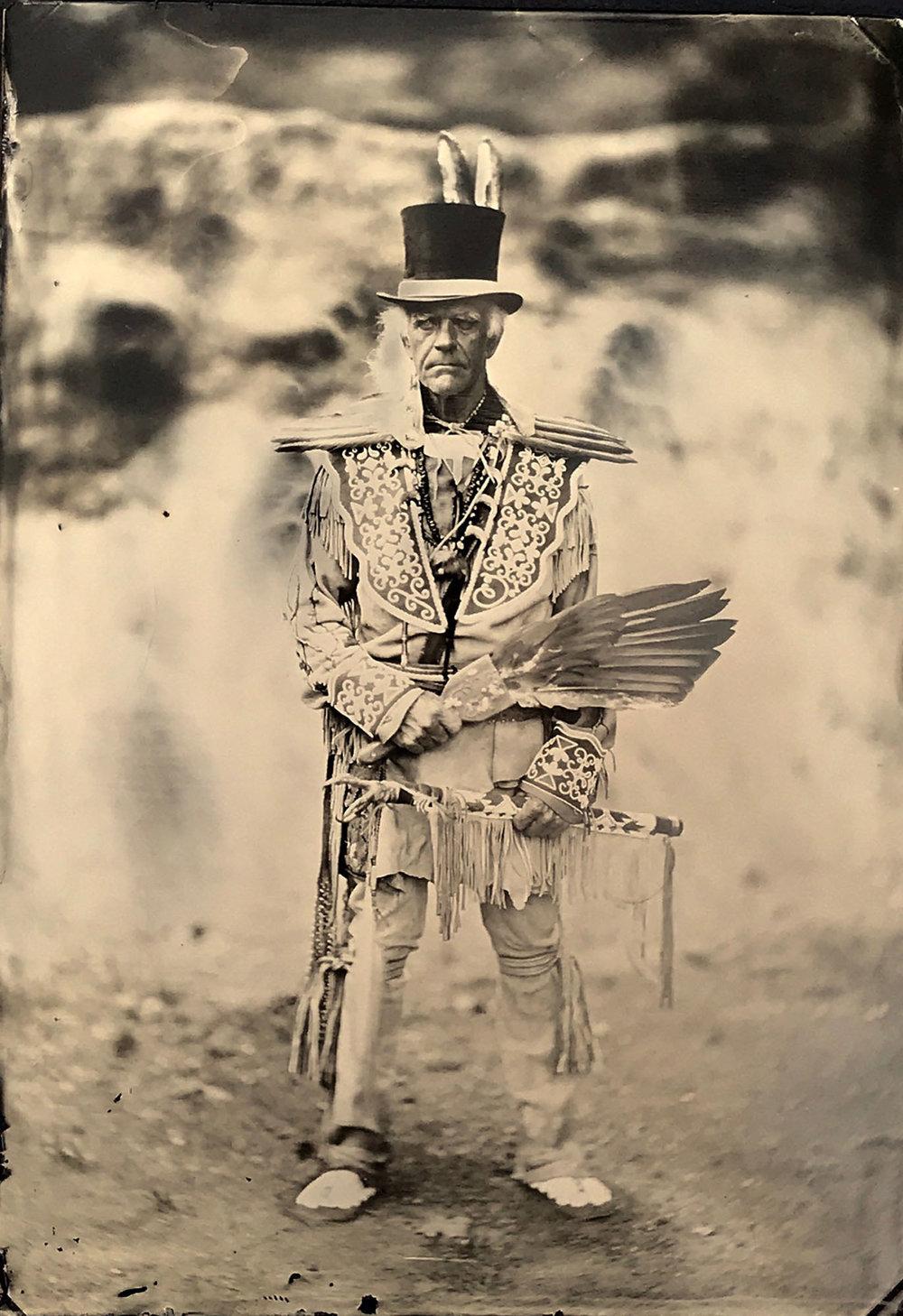Title : Native American Reenactor   By: Craig Murphy    Www.glensfallsart.com