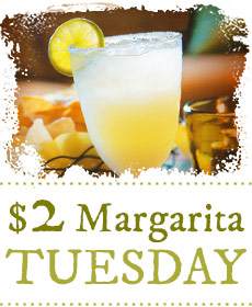 House margarita with purchase of regular priced entrée  (Excludes special events & holidays)