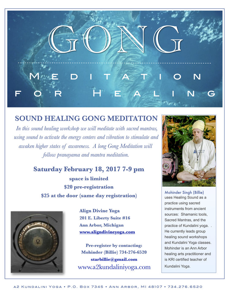 Ancient Sound Healing Gong Meditation Workshop — A2 Kundalini Yoga