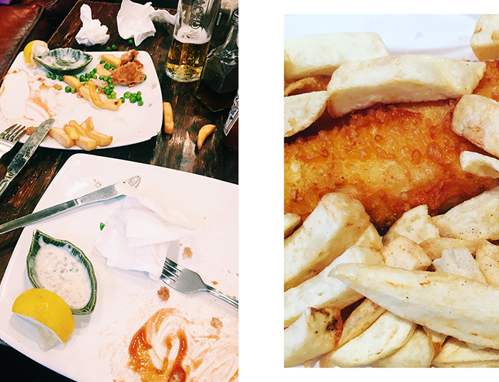 Naturally, I've been eating a lot of fish and chips.