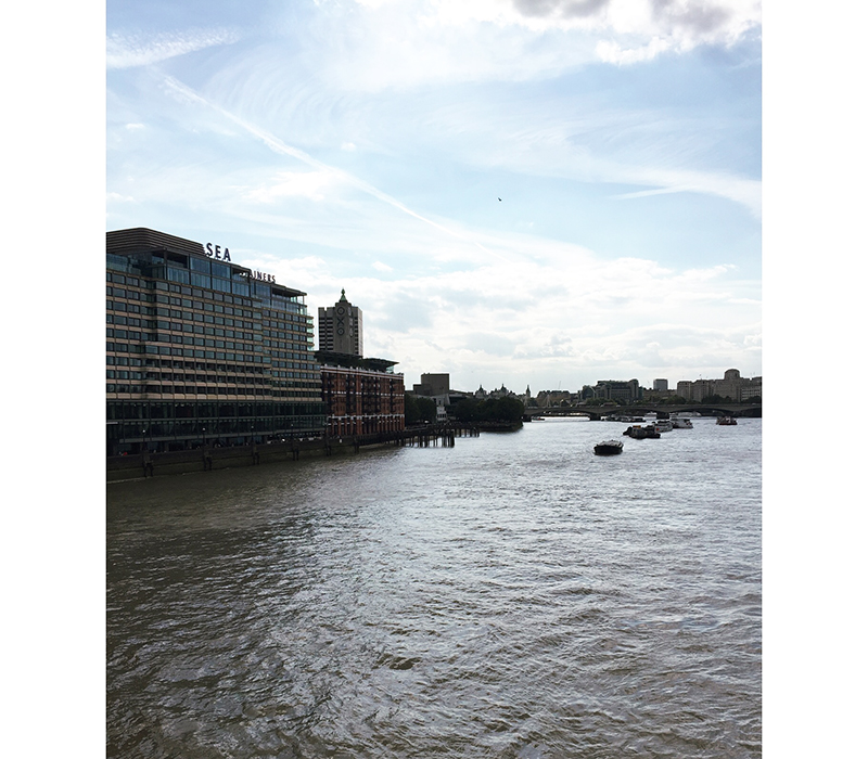 The view from Blackfriars Bridge.